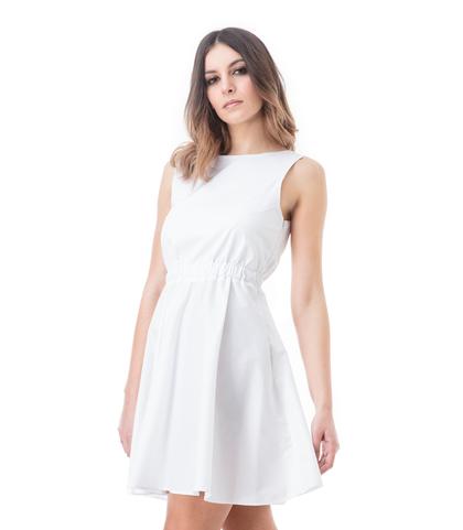 Abito corto bianco, Abbigliamento, 13E2T1200TSBIANM, 002