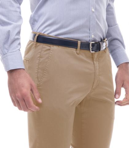 Pantaloni beige in cotone raso, Abbigliamento, 13T2T6367TSBEIG44, 002