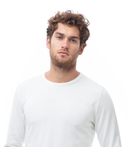 Maglia girocollo bianca in cotone, Abbigliamento, 13T4T2000TSBIAN48, 002