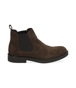 Chelsea boots testa di moro in camoscio, SALDI UOMO, 16D4T1123CMMORO039, 001 preview