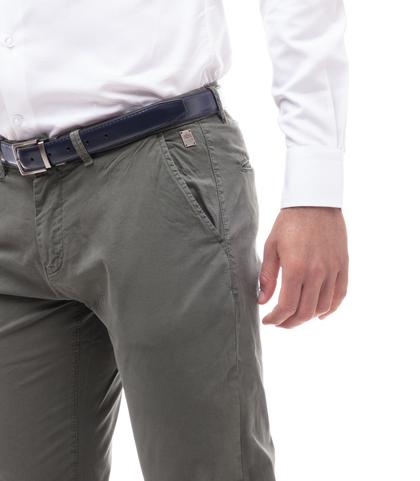 Pantaloni chino militari in cotone, Abbigliamento, 11G5T2071TSMILI46, 002