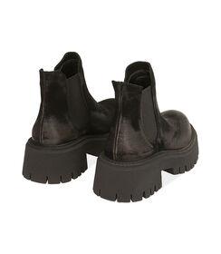 Chelsea boots neri in camoscio, tacco 5,5 cm, Valerio 1966, 1872T4438CMNERO035, 004 preview