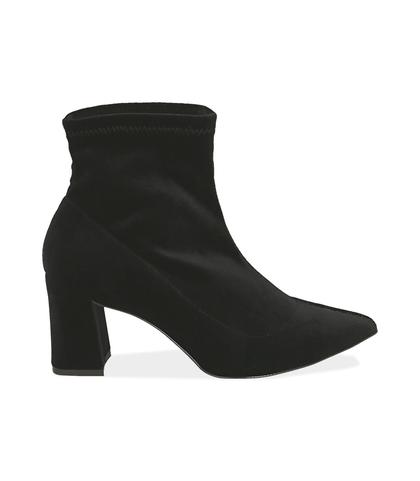 Ankle boots neri in velluto , Valerio 1966, 1002T4158VLNERO035, 001