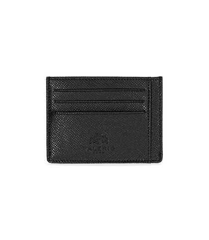 Portafoglio nero in pelle con logo embossed, Accessori, 10A4T1734PENEROUNI, 001