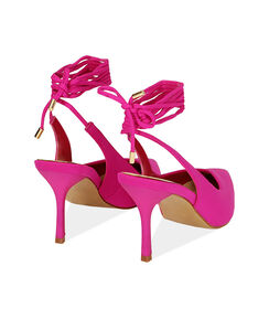 Slingback lace-up fucsia in lycra, tacco 8,5 cm , Valerio 1966, 1721T6283LYFUCS035, 004 preview