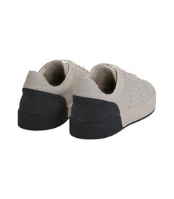 Sneakers bianche in pelle con tallone blu in camoscio, Scarpe, 1198T5841PEBIBL040, 004 preview