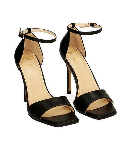 Sandali neri, tacco 10,5 cm , Valerio 1966, 1721T4210EPNERO035, 002