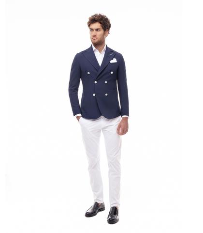 Giacca blu doppiopetto, Made in Italy, Abbigliamento, 13T1T3021TSBLUE46, 001
