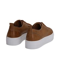 Sneakers cuoio in pelle, Valerio 1966, 1577T0412PECUOI036, 004 preview
