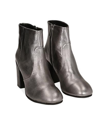 Ankle boots canna di fucile in laminato , Scarpe, 1253T3009LMCANN035, 002