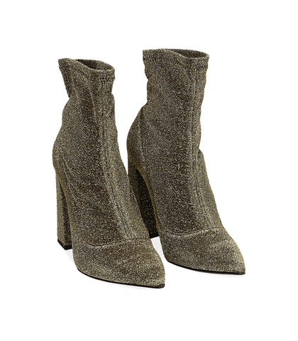 Ankle boots oro in lamè, Scarpe, 1002T7988LMOROG035, 002