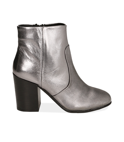 Ankle boots canna di fucile in laminato , Scarpe, 1253T3009LMCANN035, 001