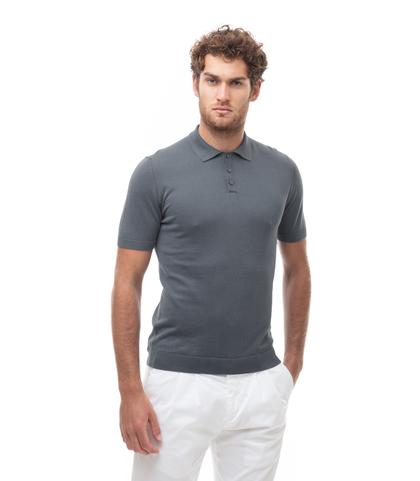 Polo basic grigia in cotone, Abbigliamento, 13T4T2352TSGRIG48, 001