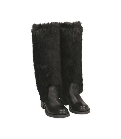 Stivali neri in eco-fur , Valerio 1966, 1078T6037FUNERO035, 002