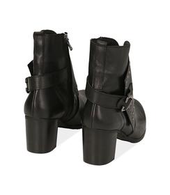Ankle boots con borchie neri in pelle, Valerio 1966, 1007T5025PENERO036, 004 preview