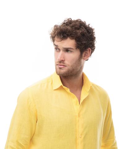 Camicia gialla in lino, Abbigliamento, 13H9T8211TSGIAL39, 002