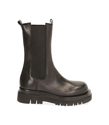 Chelsea boots neri in pelle , Valerio 1966, 1856T0203PENERO035, 001