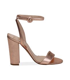 Sandali oro rosa con cinturino alla caviglia, Valerio 1966, 13D6T0703LMRAOR036, 001 preview