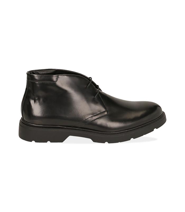 Polacchini neri in pelle abrasivataScarpe, 1098T5427ABNERO040