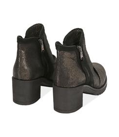 Biker boots oro in laminato , Scarpe, 1056T0039LMOROG036, 004 preview