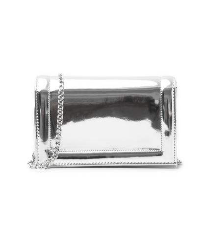 Pochette argento specchiato, Borse, 1166T6452SPARGEUNI, 001