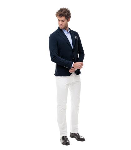Giacca blu in cotone, Made in Italy, Abbigliamento, 13T1T3015TSBLUE46, 001