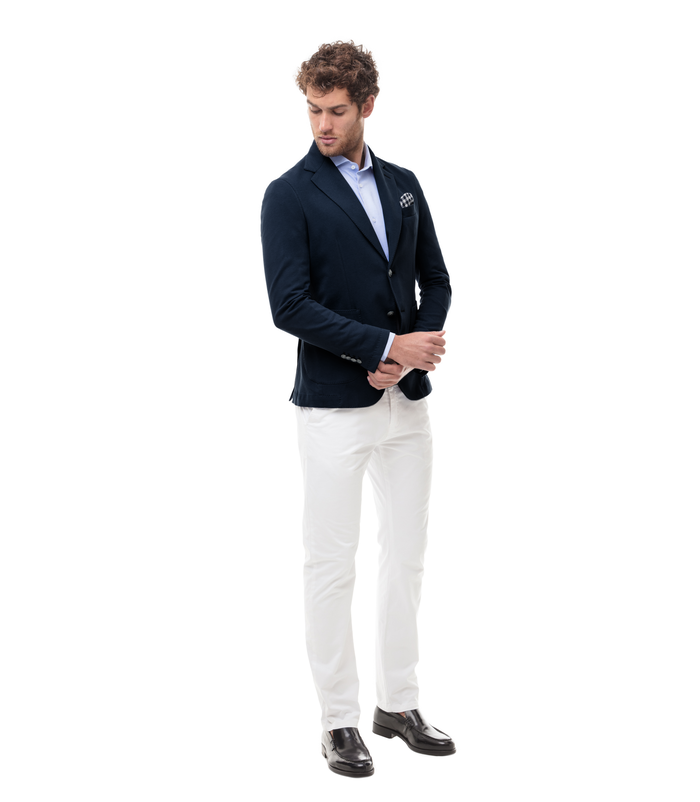 timeless design 1c028 5c1d1 Giacca blu in cotone, Made in Italy