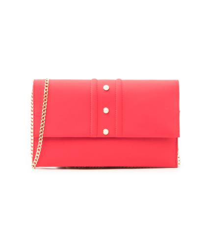 Pochette rossa in lycra con perle , Borse, 1166T6440LYROSSUNI, 001