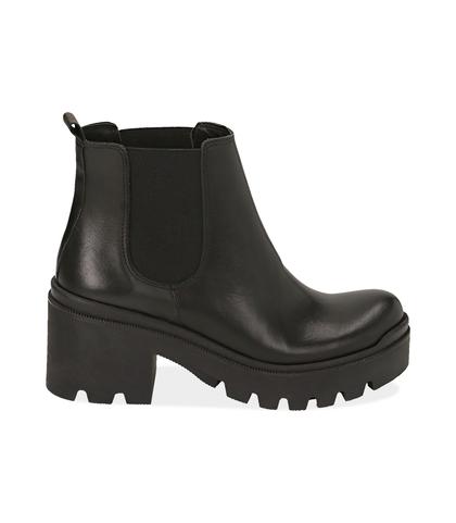 Chelsea boots neri in pelle di vitello , DONNA, 1489T0104VINERO035, 001