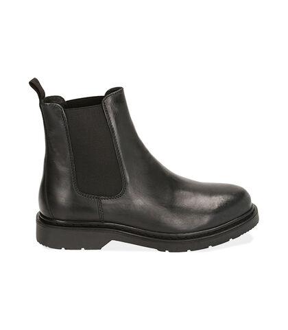 Chelsea boots neri in pelle , Valerio 1966, 1877T6120PENERO039, 001
