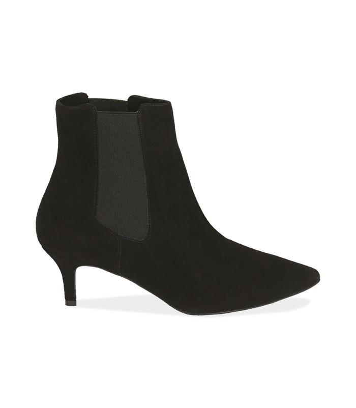 Chelsea boots neri in camoscio Scarpe, 12D6T8401CMNERO036