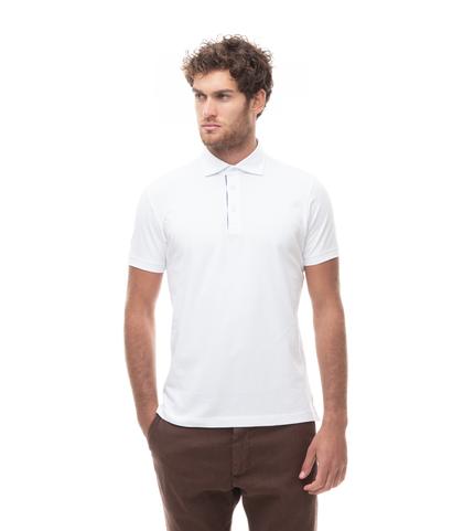 Polo bianca in jersey, Valerio 1966, 13I5T0130TSBIAN46, 001