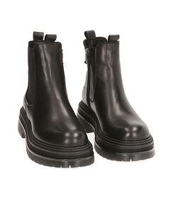 Chelsea boots neri in pelle, tacco 5,5 cm, Valerio 1966, 18L6T1503PENERO035, 002 preview