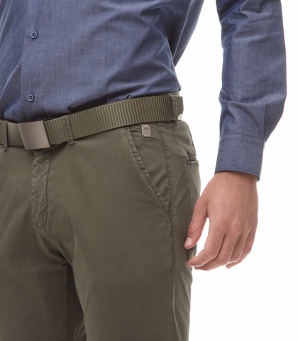 Pantaloni Chino militare in cotone, 11G5T2072TSMILI44, 002
