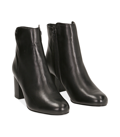 Ankle boots neri in pelle di vitello, Valerio 1966, 14D6T1101VINERO035, 002
