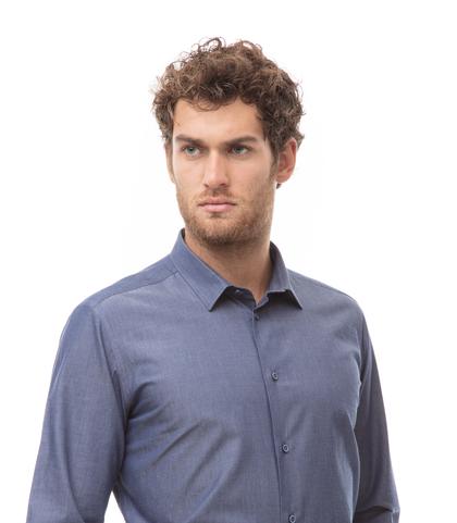 Camicia jeans in denim Chambray, Abbigliamento, 13H9T8205TSJEAN39, 002