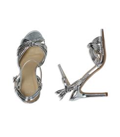 Sandali argento effetto mirror, Scarpe, 0921T9542SPARGE035, 003 preview
