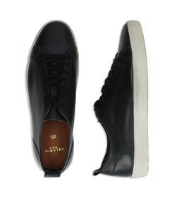 Sneakers blu in pelle con suola bianca, Valerio 1966, 1377T8081PEBLUE040, 003 preview