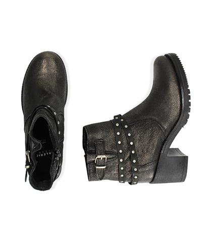 Biker boots oro in laminato , Scarpe, 1056T0021LMOROG035, 003