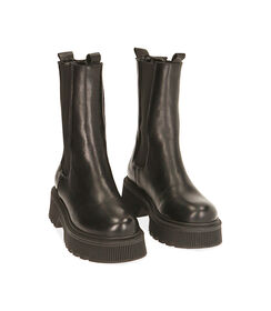 Chelsea boots neri in pelle, tacco 5,5 cm, Valerio 1966, 18L6T4029PENERO035, 002 preview