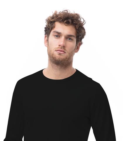 Maglia girocollo nera in cotone, Abbigliamento, 13T4T2000TSNERO48, 002
