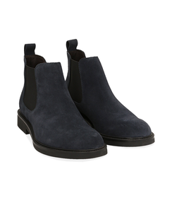 Chelsea boots blu in camoscio , SALDI UOMO, 16D4T1123CMBLUE040, 002 preview