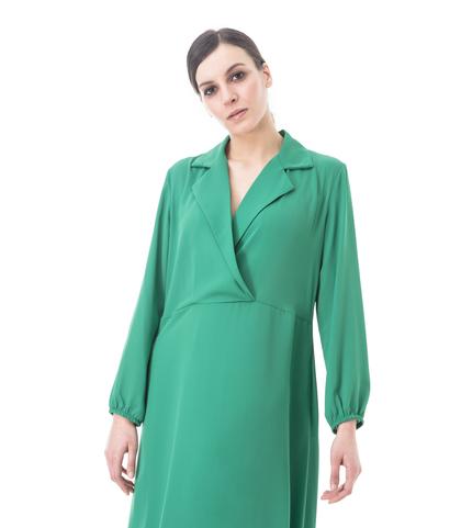Abito midi verde, Abbigliamento, 13T3T1893TSVERDL, 002