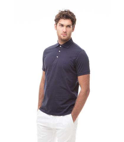 Polo blu in jersey, Valerio 1966, 13I5T0130TSBLUE46, 001
