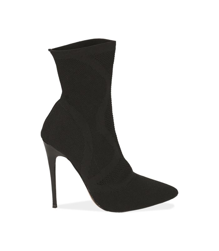 Ankle boots neri in tessuto elasticoValerio 1966, 1021T8510TSNERO036