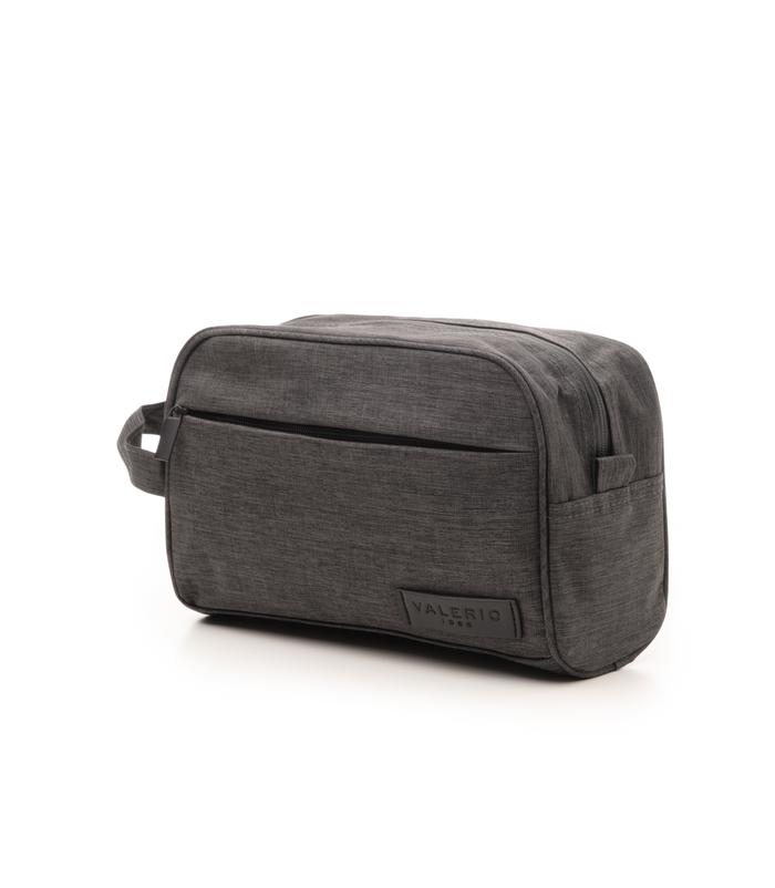 Beauty case grigio in cotone e nylonUOMO, 10H9T6011TSGRIGUNI