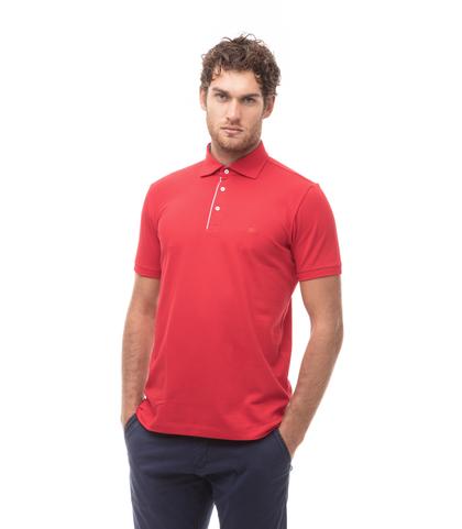 Polo rossa in cotone piquet , Valerio 1966, 13I5T0129TSROSS46, 001