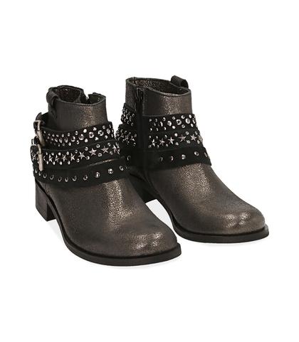 Ankle boots oro in laminato , Valerio 1966, 1056T0035LMOROG035, 002