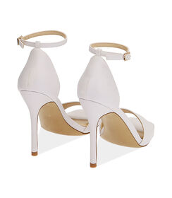 Sandali bianchi, tacco 10,5 cm , Valerio 1966, 1721T4210EPBIAN036, 004 preview