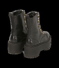 Anfibi neri in pelle di vitello, platform 5 cm , SALDI DONNA, 1689T4002VINERO035, 004 preview